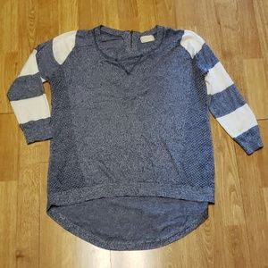 Altar'd State striped sleeve sweater sz large
